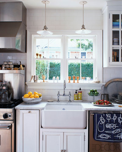 Elle Design: All White DREAM Kitchen....Elle Decor